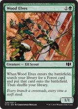 ウッド・エルフ/Wood Elves 【英語版】 [C14-緑C]