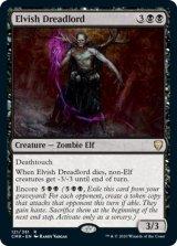 エルフの戦慄王/Elvish Dreadlord 【英語版】 [CMR-黒R]
