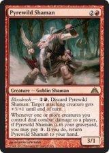 薪荒れのシャーマン/Pyrewild Shaman 【英語版】 [DGM-赤R]《状態:NM》