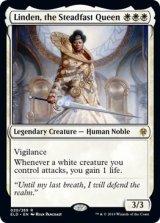 不動の女王、リンデン/Linden, the Steadfast Queen 【英語版】 [ELD-白R]《状態:NM》