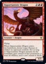 日和見ドラゴン/Opportunistic Dragon 【英語版】 [ELD-赤R]《状態:NM》