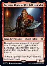 朱地洞の族長、トーブラン/Torbran, Thane of Red Fell 【英語版】 [ELD-赤R]《状態:NM》