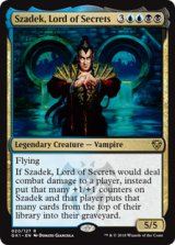 秘密の王、ザデック/Szadek, Lord of Secrets 【英語版】 [GK1-金R]《状態:NM》