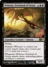 グリクシスの首領、ネファロックス/Nefarox, Overlord of Grixis 【英語版】 [M13-黒R]《状態:NM》