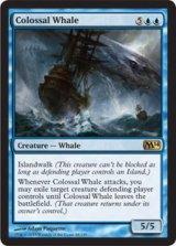 壮大な鯨/Colossal Whale 【英語版】 [M14-青R]《状態:NM》