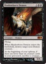 影生まれの悪魔/Shadowborn Demon 【英語版】 [M14-黒MR]《状態:NM》