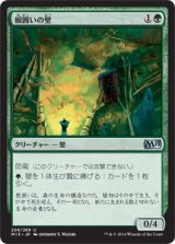 根囲いの壁/Wall of Mulch 【日本語版】 [M15-緑U]《状態:NM》