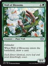 花の壁/Wall of Blossoms 【英語版】 [MH1-緑U]《状態:NM》