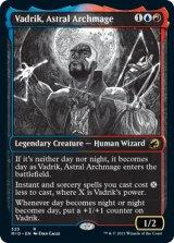 星の大魔導師、ヴァドリック/Vadrik, Astral Archmage (ショーケース版) 【英語版】 [MID-金R]