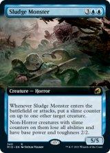 ヘドロの怪物/Sludge Monster (拡張アート版) 【英語版】 [MID-青R]