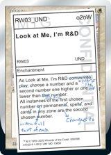 Look at Me, I'm R&D 【英語版】 [UND-白R]《状態:NM》